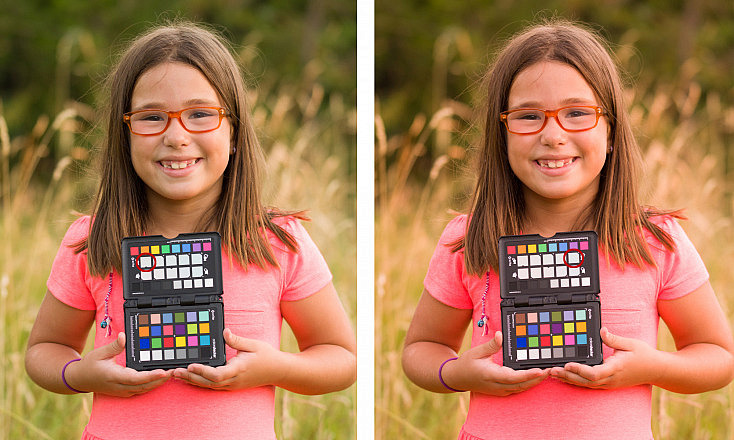 ColorChecker Passport - Ajustes creativos