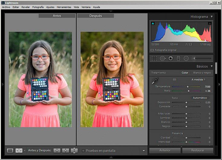 ColorChecker Passport - Antes y después