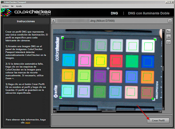 ColorChecker Passport - Crear perfil en ColorChecker