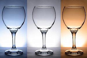 Cómo fotografiar copas de cristal