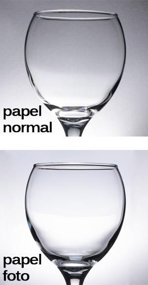 Papel normal vs Papel fotográfico