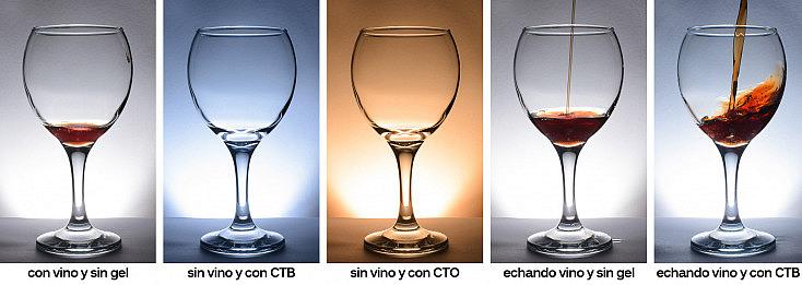 Variantes con geles y vino