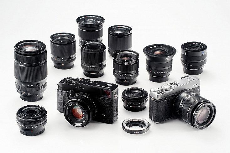 Marcas como Fujifilm o Sony disponen cada vez de más objetivos para sus cámaras.