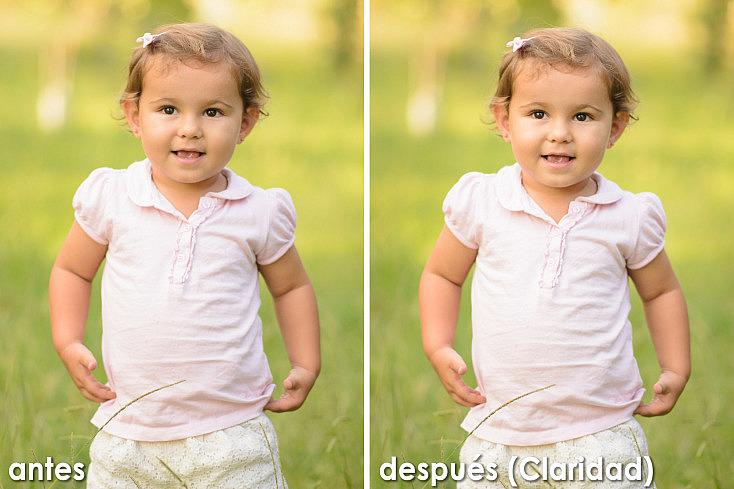 Claridad para retratos - antes y después