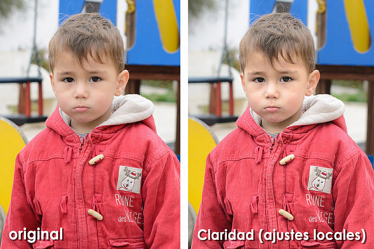 Claridad ajustes locales - Comparación con original