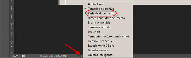 Perfil de color - Photoshop ver perfil