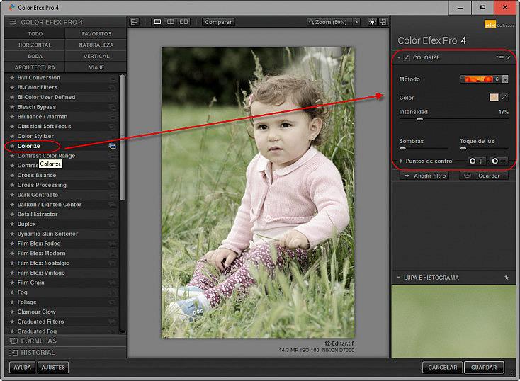 Color Efex Pro 4 - Aplicar filtro