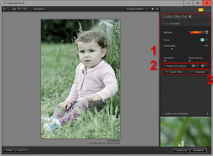 Color Efex Pro 4 - Parámetros de filtros