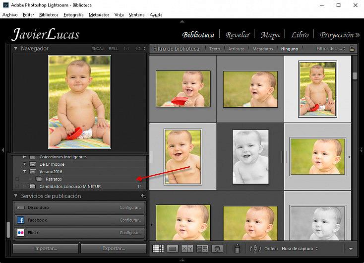 Colecciones - Añadir imágenes