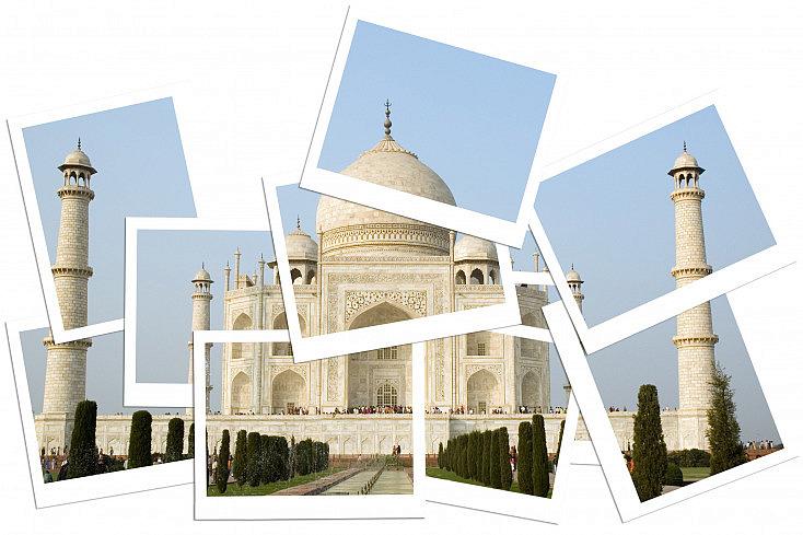 Collage con fondo blanco