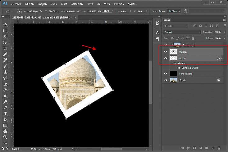 Collage polaroids - Paso 11