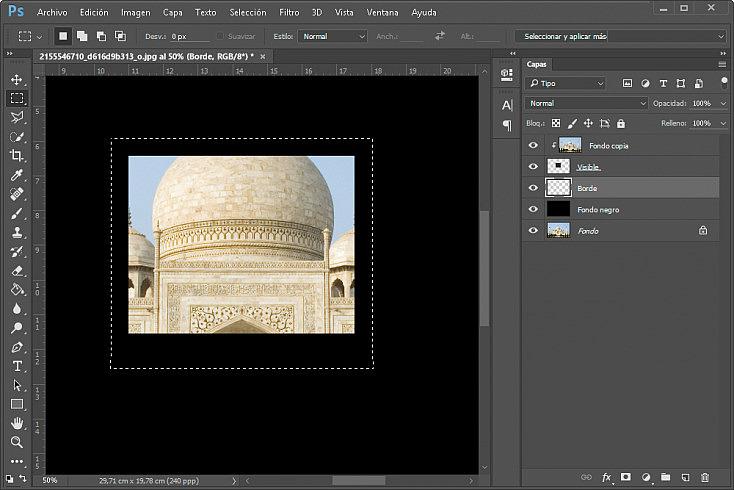 Collage polaroids - Paso 8
