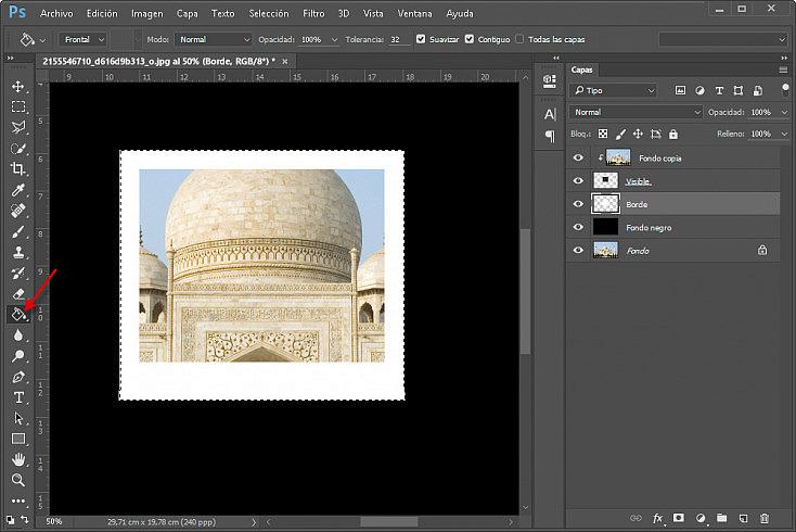 Collage polaroids - Paso 9