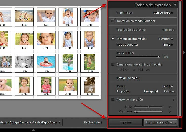 Paso 5b - Impresión en JPEG