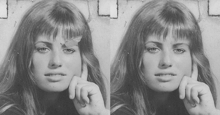 restauración de foto antigua con copia-pega