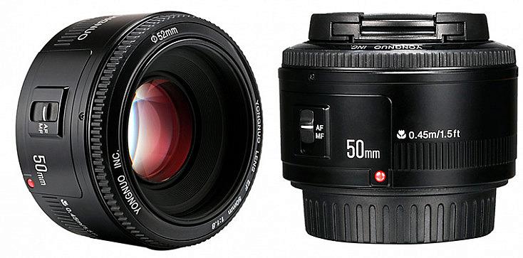 Yongnuo 50 mm f/1.8 para Canon