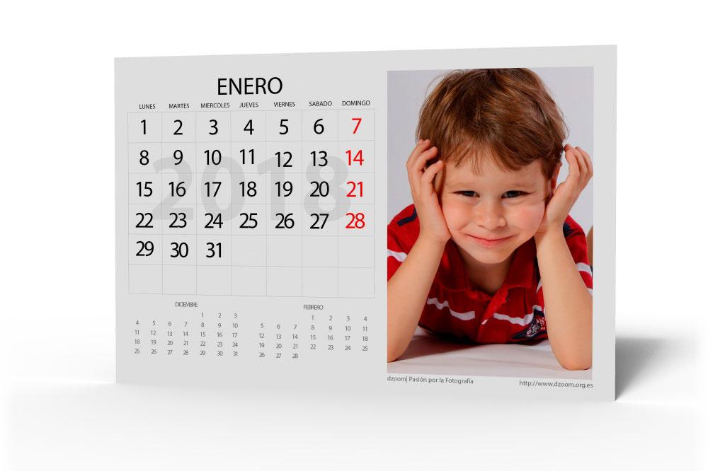 Calendario 2018 para Editar (Personalizable) de dzoom