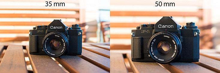 comparativa de focales: 50mm y 35mm