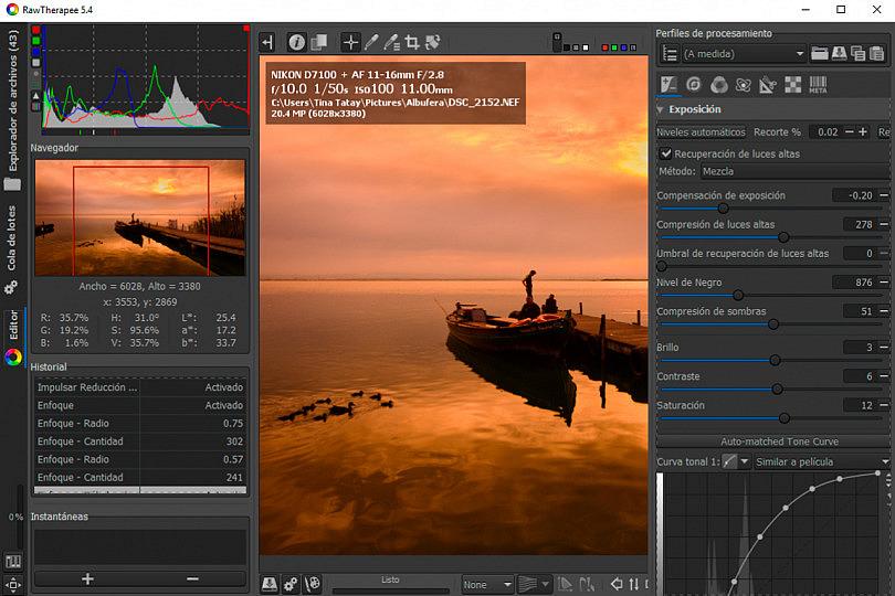 RawTherapee: el Mejor Programa Gratuito para Revelar Fotos