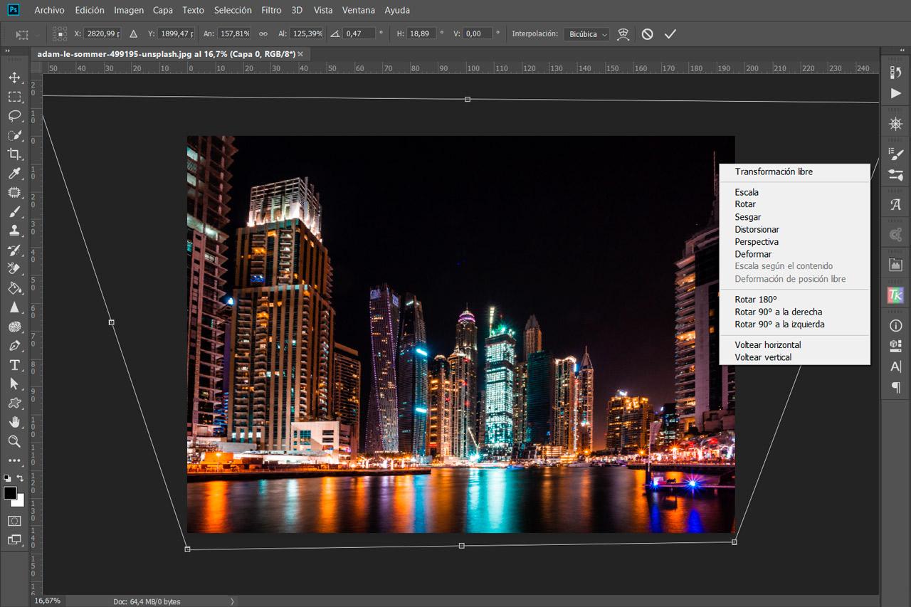 La Herramienta Transformación Libre de Photoshop: Todo lo que Necesitas Saber