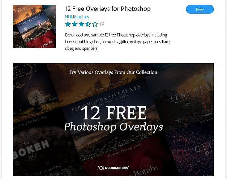 Extension 12 Free Photoshop Overlays