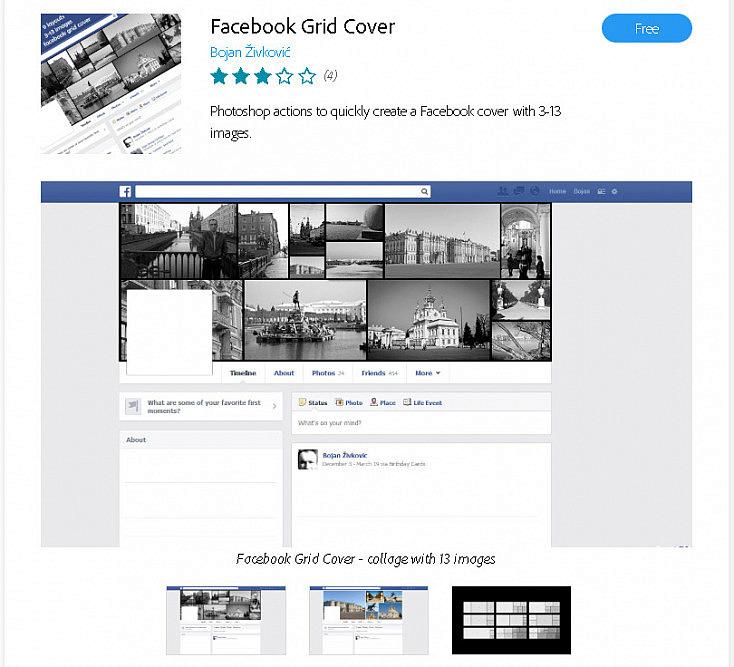 Extensión para crear collages fotográficos al estilo Facebook
