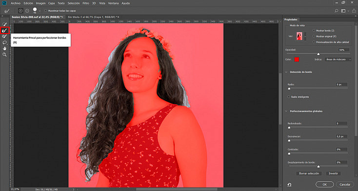 Cambiar color de pelo photoshop cc