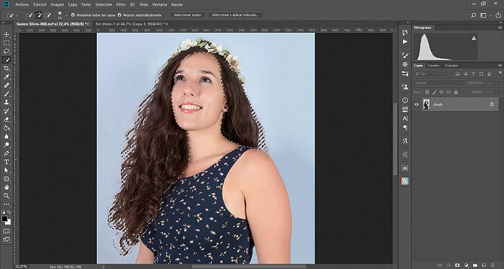 Editor para cambiar el color de pelo