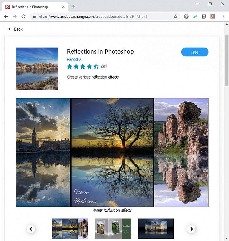 Extensión para crear reflejos en Photoshop
