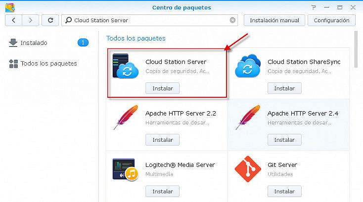 Cloud Station Server - Instalación