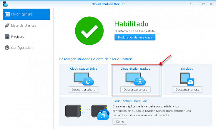 Cloud Station Server - Cliente