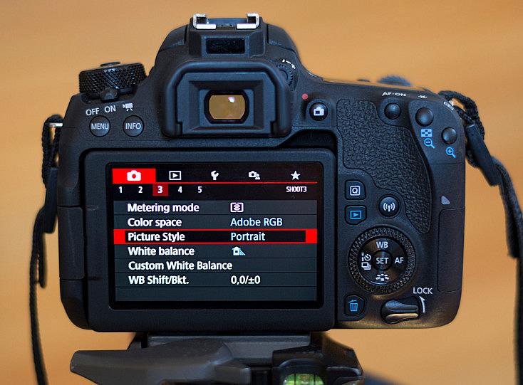 Canon Picture Style - Configuración cámara