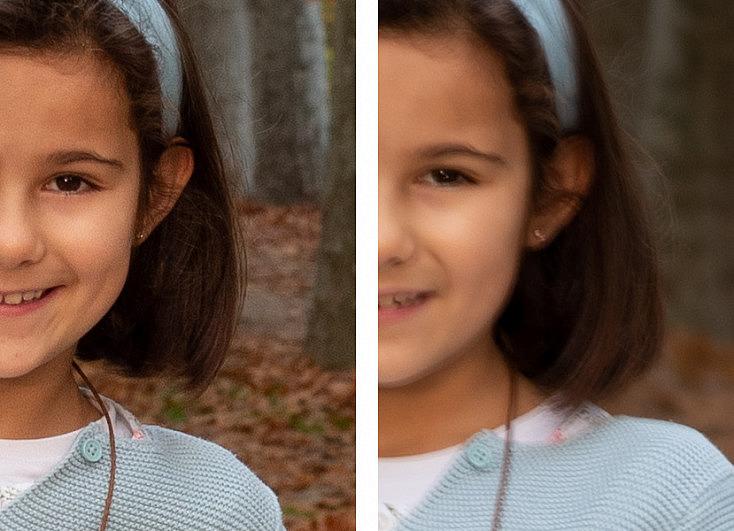 Retrato a bajo tiempo de exposición - Resolución 100%