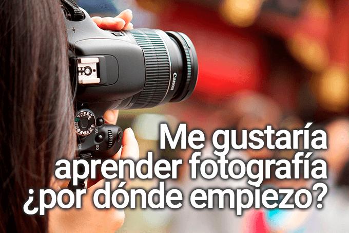 cómo aprender fotografía